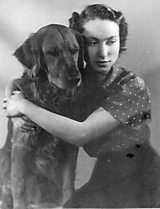 Mona Inglesby and her dog Copper