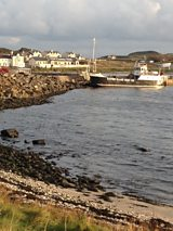 The ferry at Rathlin Harbour