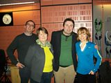 STUDIO PICTURE :: Richard, Katherine Hopkins, Sean Hughes and Sian.