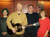 Studio pic :: Bernadette Russell, Billy Bragg, Giles Duley, Richard and Sian