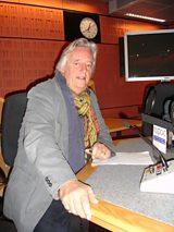 Michael in the studio recording the NAPAC Radio 4 Appeal