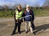 David and Clare before the litter picking began...
