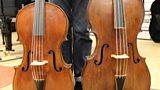 Richard Tunnicliffe's cello and 5 stringed piccolo cello