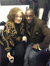Presenter Cleveland Watkiss with singer Cleo Laine