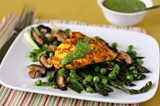 Marinated Chicken on Spring Vegetables by Conner Middelmann-Whitney