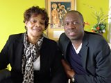 Clive Myrie and Sylvia Emenike