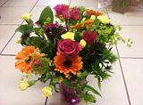 Colin's flower arranging efforts