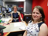Laura with Jane Duffas from What the Frock