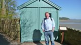 Jamie outside Dylan Thomas' Writing Shed
