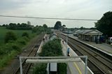 An overview of Castle Cary station a week before the festival begins