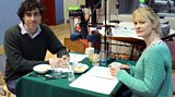 Stephen Mangan & Claire Skinner recording 'Lunch'