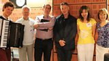 STUDIO PHOTO :: MARTYNAS LEVICKIS, DAVID LANG, RICHARD, MICHAEL PALIN, ANTOINETTE HASELHORST, SIAN.