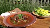 Coq au Vin, Green Salad with Classic Vinaigrette, Baked Camembert with Walnut Bread