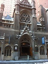 St Malachy's church in New York.