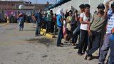 Long queues at Maracaibo Supermarket