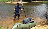 Will and his packraft about to record on location