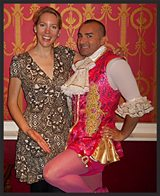 Laura with dancer and Celebrity Big Brother housemate Louis Spence