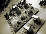 Searching for the soul of the Id Monster-one of Phil Taylor's ring modular circuits awaiting torture by electricity!