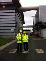 Anna Hill at chicken litter biomass power station near Eye, Suffolk