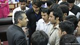 Image of Quilliam chairman Maajid Nawaz with some Pakistani students at the Agricultural University, Faisalabad.