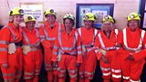 The cast and crew go down Kellingley Colliery to experience a working mine