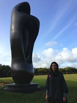 Julia at the Henry Moore Foundation