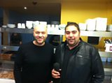 Celeb chef Simon Rimmer with Martin