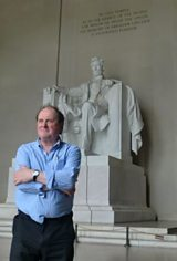 James at the Lincoln Memorial