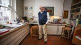 Sir Ken Adam in his workroom