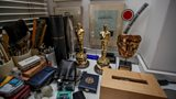 Sir Ken Adam's Oscars for the set design of Barry Lyndon and The Madness of King George, and his art tools