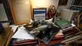 Ken's model of a Hawker Typhoon – the fighter plane he flew for the RAF in WW2