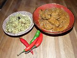 Slow Cooker Malay Beef Curry with Lentil, Aubergine and Rice Pilau