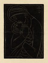 Eric Gill - Christmas Card: Madonna & Child (1922)