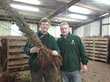 Steve Ashworth and Ray Jenkins from Wyevale Transplants