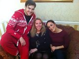 Laura with Sam Attwater and Helena Blackman