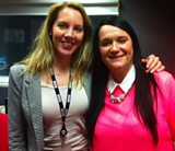 Laura with West country stand up comedian Cerys Nelmes