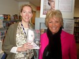 Laura with best-selling author Lesley Pearse