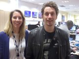 Laura with comedian John Robins
