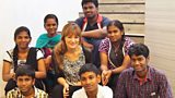 Nicola Benedetti and young Indian string players