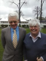 Trainer Alan Pickering, and presenter Peter White.