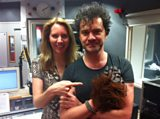Laura with TV presenter Mark Cousins