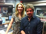 Laura with singer Ian Prowse