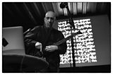 Elliott Sharp with the graphic score for Foliage