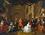 Painting by William Hogarth: The Beggar's Opera