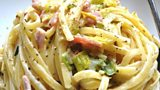 Creamy Bacon and Leek Linguine
