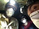 Selfie in bat cave