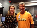 Laura with comedian and writer Tony Hawks