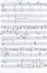 First page of Gwilym's skyline score