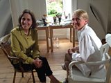 Kirsty Wark and Alison Watt