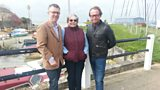 Mark King and mum Bridget with John at Gurnard Marsh